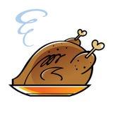 Gebratenes Huhn oder Truthahn Lizenzfreie Stockfotografie