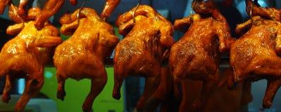 Gebratenes Huhn in Singapur Stockbild