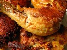 Gebratenes Huhn und Truthahn Lizenzfreies Stockbild