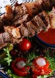 Gebratenes kebab lizenzfreie stockfotografie