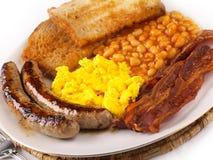 Gebratenes Nahrungsmittelfrühstück Stockfoto