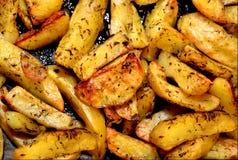 Gebratenes patato Stockfoto