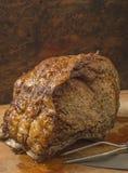 Gebratenes Rindfleischprime rib gekocht auf dem Knochen Stockfoto