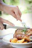 Gebratenes und gebackenes Kalbfleisch Lizenzfreie Stockfotografie