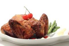 Gebratenes vollständiges Huhn Stockbild
