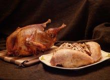 Gebratenes vollständiges Huhn Lizenzfreies Stockbild