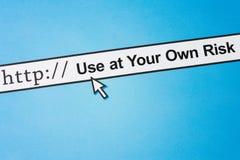 Gebrauch an Ihrer eigenen Gefahr lizenzfreies stockbild