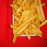 Gebrauch-Makroobjektiv der Pommes-Frites closeup Lizenzfreie Stockfotos