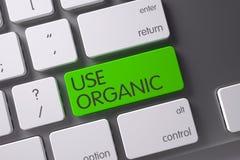 Gebrauch organisch - grüner Knopf 3d übertragen Lizenzfreie Stockfotos