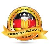 Gebraut in Deutschland - erstklassige Bier-Extra Qualität lizenzfreie abbildung
