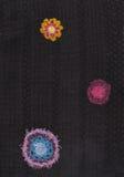 Gebreid bloemenpatroon Royalty-vrije Stock Afbeelding