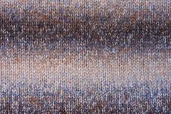 Gebreid bruin textuurblauw, Royalty-vrije Stock Afbeeldingen