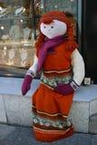 Gebreid Doll en parels Stock Foto's