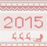 Gebreid gelukkig nieuw jaarpatroon Royalty-vrije Stock Foto