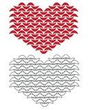 Gebreid grafisch hart clipart Stock Afbeeldingen
