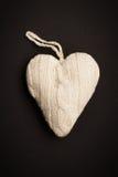 Gebreid hart Royalty-vrije Stock Afbeelding