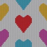 Gebreid hart. Valentine-dagkaart Stock Foto