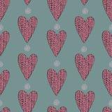 Gebreid hartpatroon Royalty-vrije Stock Afbeelding