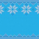 Gebreid Kerstmis en Nieuwjaar traditioneel patroon Stock Afbeelding