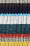 Gebreid Multicolored fabrick Stock Afbeelding
