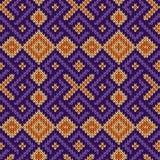 Gebreid naadloos decoratief patroon royalty-vrije illustratie