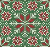 Gebreid naadloos Kerstmispatroon Stock Fotografie