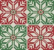 Gebreid naadloos Kerstmispatroon Royalty-vrije Stock Afbeelding