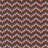 Gebreid patroon, Kerstmisthema Stock Afbeelding