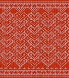 Gebreid patroon met harten royalty-vrije illustratie
