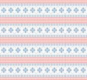 Gebreid patroon met werveling en ster vector illustratie