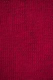 Gebreid rood canvaspatroon Royalty-vrije Stock Foto