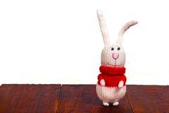 Gebreid stuk speelgoed konijn royalty-vrije stock afbeelding