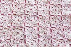 Gebreid Textuurclose-up als achtergrond Stock Afbeeldingen