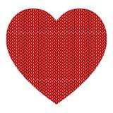 Gebreid vectorpatroon met rood hart Royalty-vrije Stock Foto's