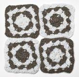 Gebreid zwart-wit patroon Stock Afbeelding