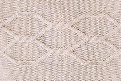 Gebreide achtergrond breiend patroon van wol knitting Textuur van gebreide wollen stof voor behang en een abstracte achtergrond stock foto