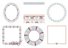 Gebreide Frames vector illustratie