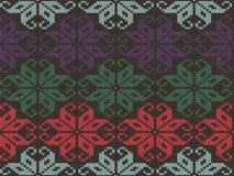 Gebreide geometrische ornamenttextuur Brei naadloos patroon Het ontwerp van de sweaterwinter in verschillende kleuren royalty-vrije illustratie