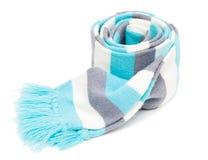Gebreide gestreepte sjaal Royalty-vrije Stock Afbeeldingen