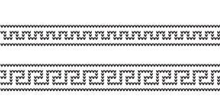 Gebreide Griekse naadloze patroonachtergrond Vector illustratie vector illustratie