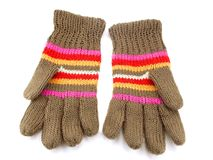 Gebreide handschoenen Royalty-vrije Stock Fotografie