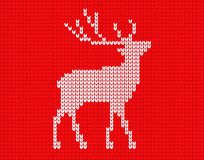 Gebreide herten in pixel vector illustratie