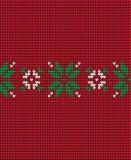 Gebreide Kerstmis en Nieuwjaarpatroon Noorse stijl, illustratie royalty-vrije stock fotografie