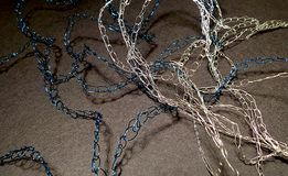 Gebreide kettingsjuwelen Stock Afbeeldingen