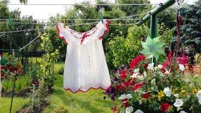 Gebreide kleding van mijn kinderjaren stock foto's