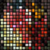 Gebreide kleurrijke textuur als abstracte canvasachtergrond Royalty-vrije Stock Foto