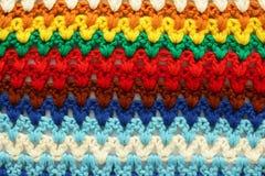 Gebreide multicolored achtergrond Stock Afbeeldingen