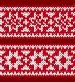 Gebreide patronen met noordse sterren Stock Foto