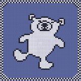 Gebreide patroon ijsbeer Stock Afbeeldingen