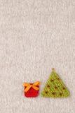 Gebreide prentbriefkaar met Kerstmis Royalty-vrije Stock Foto
